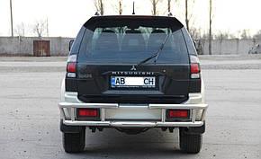 Защита заднего бампера Mitsubishi Pajero Sport (1998-2008)