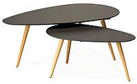 Стол журнальный Nolan В Signal (комплект из 2 столов) серый / дуб