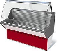 Витрина холодильная низкотемпературная ВХН-1,8 Нова (с гнутым стеклом,нержавейка)