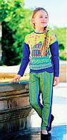 Нарядные трикотажные брюки для девочки. Размеры 98, 116