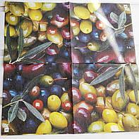 Салфетка для декупажа Оливки&Маслины 25*25 см, 1 шт