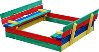 Цветная деревянная песочница для детей sb-11