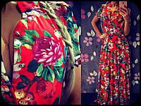 Платье в пол из атласа 888