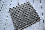 Лоскут ткани М-5  плюш минки серого цвета, фото 2
