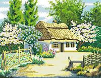 Рисунок на канве для вышивки нитками 71472 Сельский дом