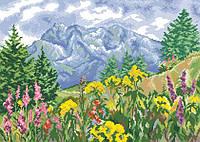 Рисунок на канве для вышивки нитками 82012 Цветы в горах
