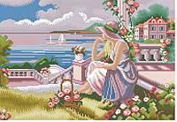 Рисунок на канве для вышивки нитками 82042 Девушка у моря