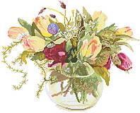 Рисунок на канве для вышивки нитками 82052 Тюльпаны в вазе