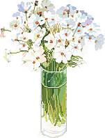 Рисунок на канве для вышивки нитками 82062 Цветы в стакане