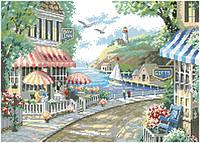 Рисунок на канве для вышивки нитками 82092 Кафе у моря