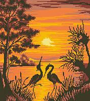 Рисунок на канве для вышивки нитками 81542 Танец на закате