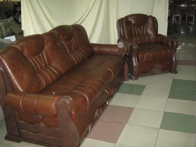 диван из кожи купить