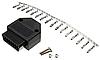 Универсальный 16 контактный OBD 2  разъём