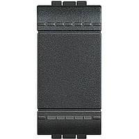 Выключатель 1 модуль  антрацит Livinglight