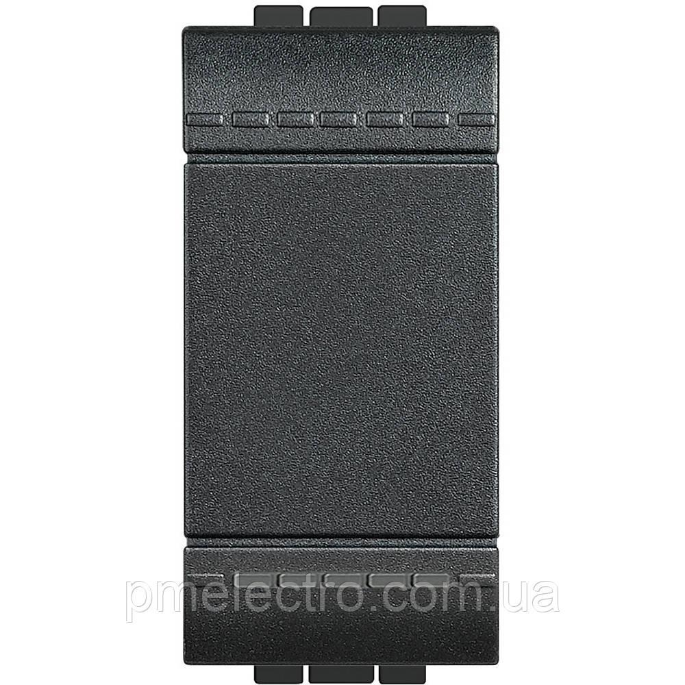 Выключатель 1 модуль  антрацит Livinglight, фото 1