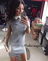 Платье мини с рубашечным воротником БУМ 376