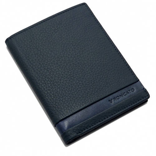 Портмоне кожаный для мужчин практичный ТМ Roncato Cuba 410934/23 т. синий
