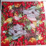 Салфетка для декупажа Цветы&Ягоды 33*33 см, 1 шт