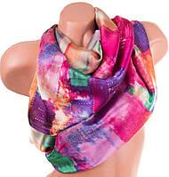 Оригинальный атласный женский шарф 182 на 92 см. ETERNO (ЭТЭРНО) ES1405-7-2