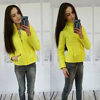 Женская весенняя куртка желтая ВФ-69
