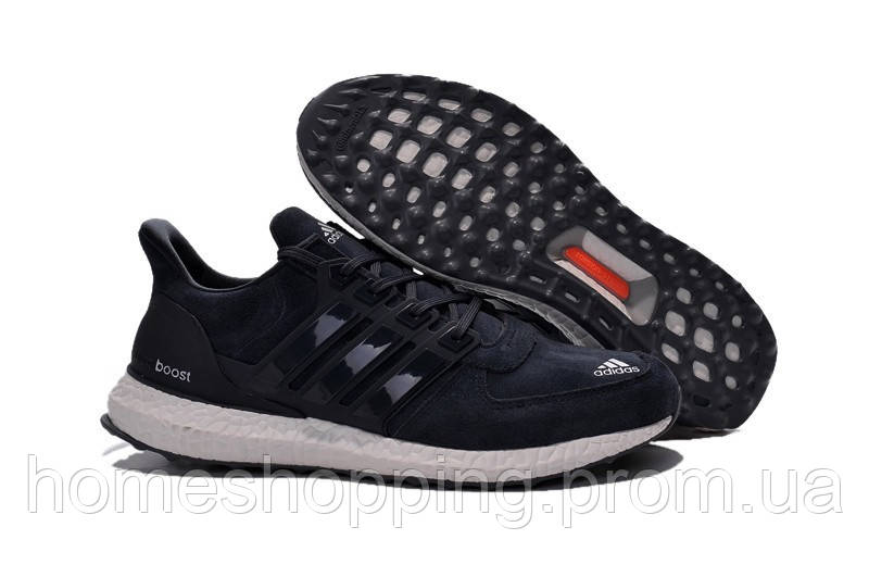 Мужские кроссовки Adidas Ultra Boost Suede (замша)