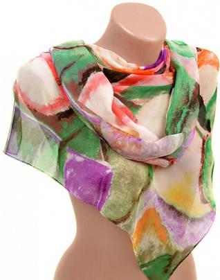 Интересный женский шарф 50 на 160 из легкого шифона 10112 K2
