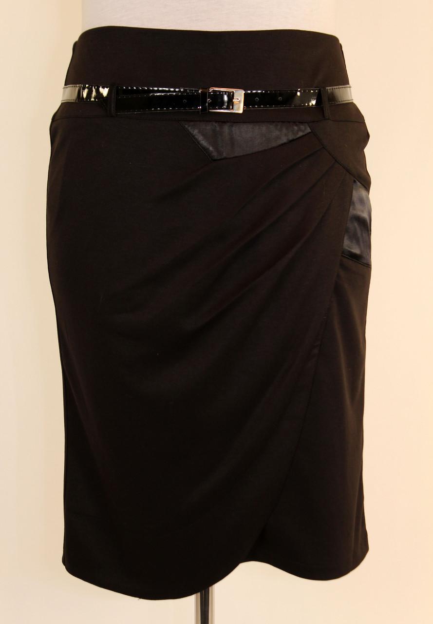 Стильная юбка с запахом 48-54 р