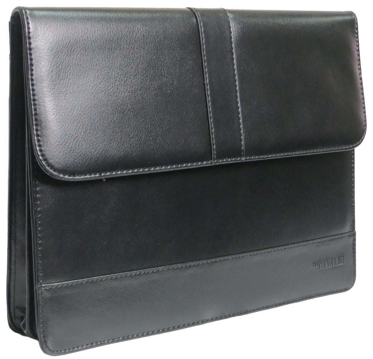 Папка для документов из эко кожи 4U Cavaldi PB0805 черная