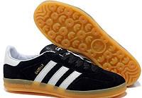 Мужские кроссовки Adidas Gazelle Indoor Black Black 41