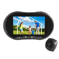 GSM видеоглазок с 5 дюймовым сенсорным экраном, записью фото/видео и разговором с посетителем (YB-50BG)