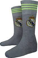 Гетры футбольные детские ФК Реал Мадрид р-р 33-38 Серые