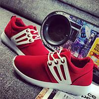 Стильные женские кроссовки. Три цвета: черный, красный и белый