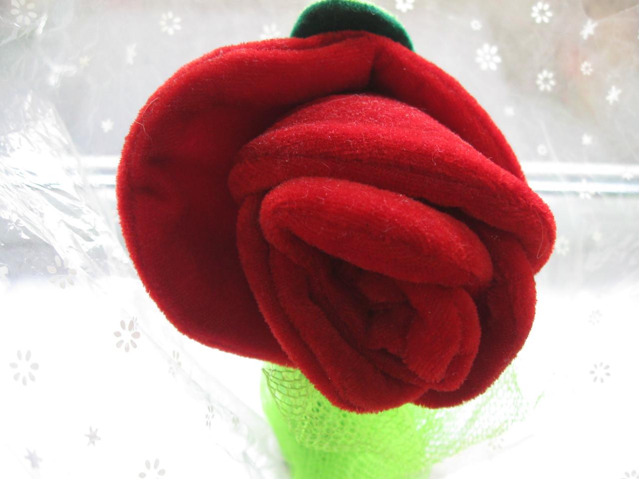 Цветок мягкий из плюша (бархата), поющий СТАРЫЙ СКЛАД