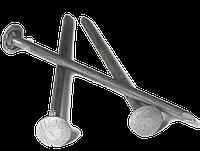 Гвозди шиферные 5,0*120 мм с металлической оцинкованной головкой, фото 1