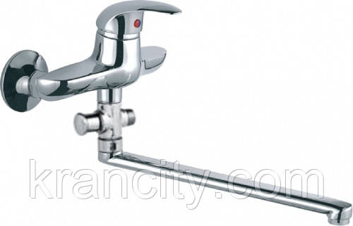 Смеситель однорычажный для ванной со стены , с длинным гусаком для кухни Ferro Ancona BAN5A