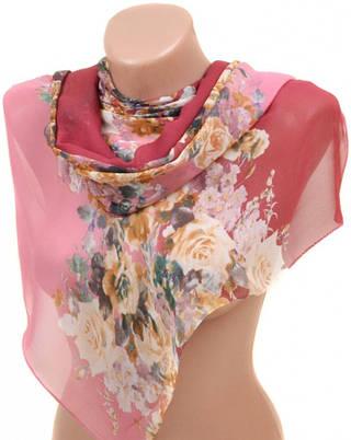 Восхитительный женский шарф 50 на 160 из легкого шифона 10112 M2