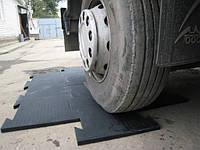 Техпластина из вулканизированной цельнолитой резины для автомобильных стоянок
