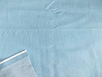 Джинс - стрейч облегченный рубашечный (св. голубой) полированный (арт. 04227) отрез 0,82 м