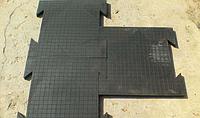Резиновая напольная плитка для ремонтной мастерской, гаража и СТО