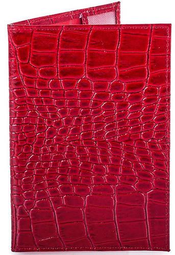 Превосходная женская кожаная обложка для паспорта  CANPELLINI (КАНПЕЛЛИНИ) SHI003-2LKR (красный)