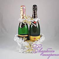 Корзинка для шампанского №3 (цвет белый)