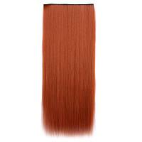 Искусственные волосы на заколках. Цвет #119 Рыжий яркий, фото 1