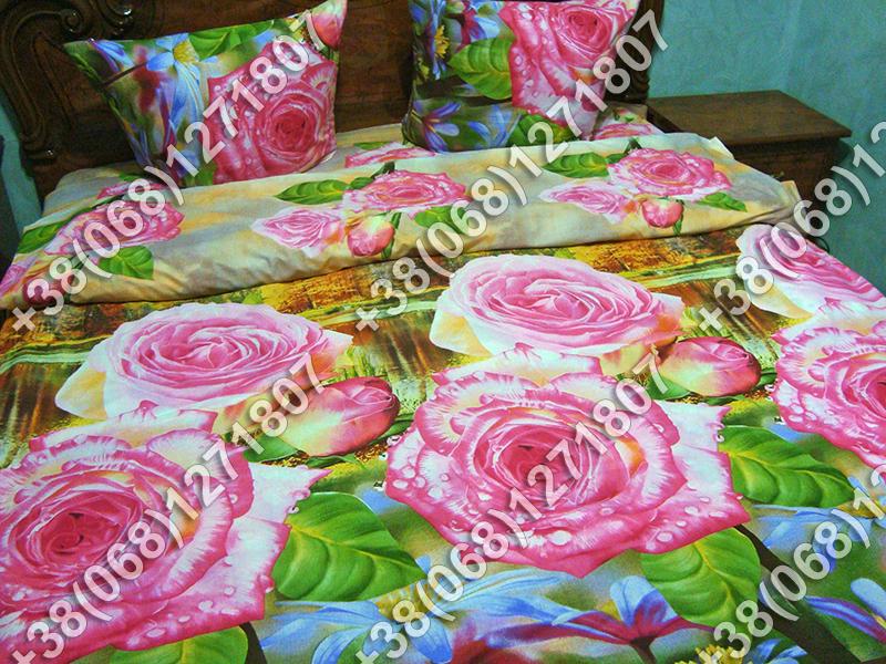 Постельное белье ранфорс - двуспальный комплект (0887)