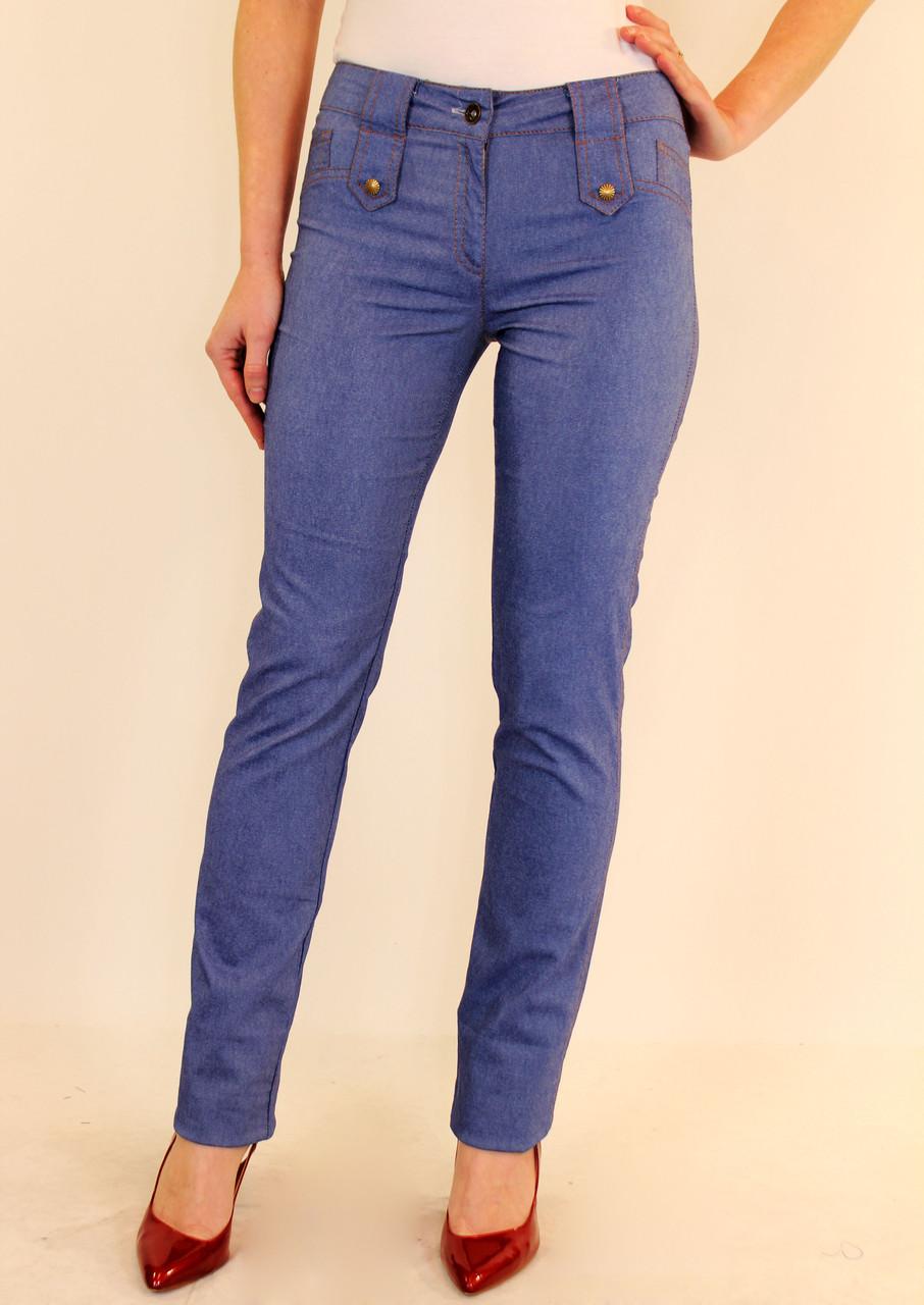 Узкие синие брюки под джинс 44-50 р