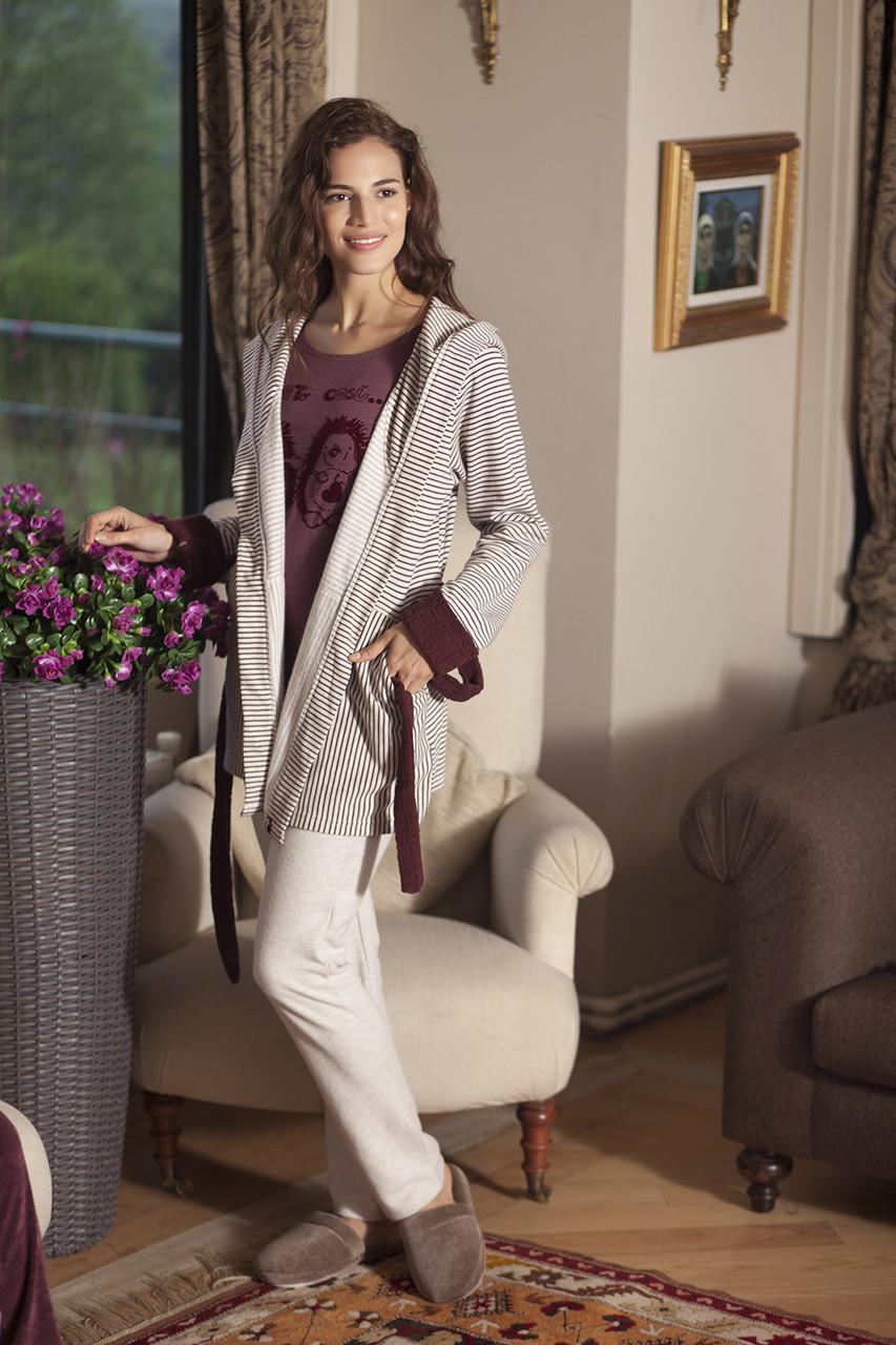 Жіночий костюм-трійка для дому із халатом HAYS 5100
