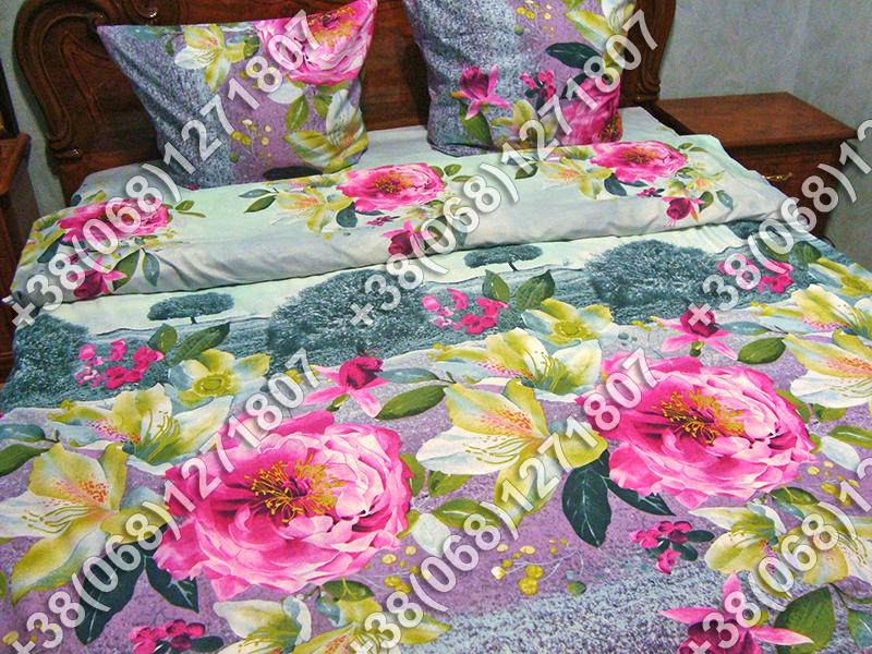 Постельное белье ранфорс - двуспальный комплект (0879)