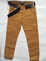 Детские штаны  желтые, одежда для мальчиков 122-146 и 152-176