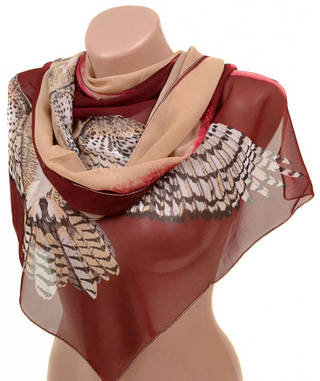 Современный женский шарф 50 на 160 из легкого шифона 10112 T1
