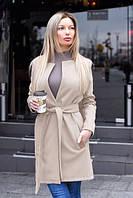 Модное женское пальто- тренч из качественного кашемира