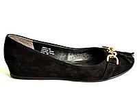 Туфли женские без каблука натуральная кожа